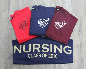 Nursing Preppy Jersey, Preppy Jersey, Jersey, Nursing, Class of 2016 Jersey, Gift for Her