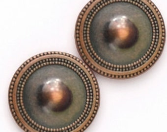 Magnet Button BRONZE Antique For Sweaters & Scarves