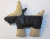 Stuffed Scotty Dog Toy Pillow Gift 9 x 9