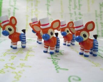New Item Resin miniature Deer Bambi for Glass Cover Vial Filler 2pcs 27mm x 22mm