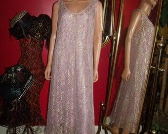 Vintage  Lavender Lace  Dress Flapper  does 20-30s  Tea Party  Size 10