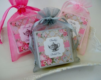 Tea Party, Bridal Shower Favors, Baby shower favors,  set of 12, Tea Party Favors, soap favors