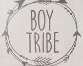 Boy Tribe Decal   Window decal   Silver   Arrows   Tribe decal   Boy Tribe sticker