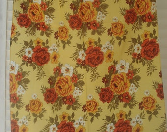 Bright floral tablecloth