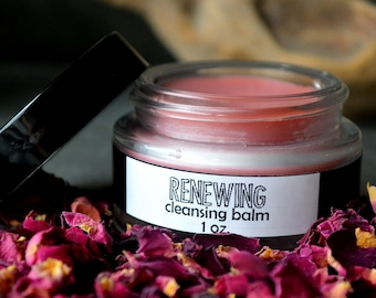 Cleansing Balm. Anti Aging Cream. Renewing. 1 oz / 30 mL. Rose Lotion. Rose Salve. Cream Cleanser. Rose Face Cream. Anti Aging.