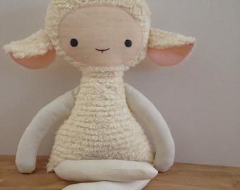 Pretty Pink Chenille Lovey Lamb