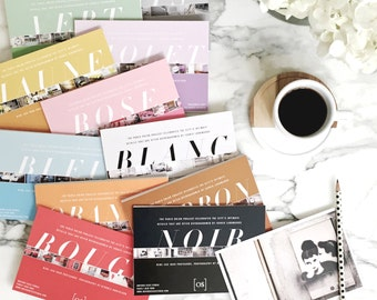 99 Paris Postcards From the Paris in Color Collection, Paris Photography, Postcard Set, Mothers Day Gift for Her, Girlfriend Gift for Wife