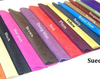suede skin piece - suede remnant -  suede crafts - suede leather - genuine suede - suede hides - leather hides - suede skins