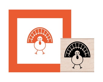 Thanksgiving Turkey Rubber Stamp