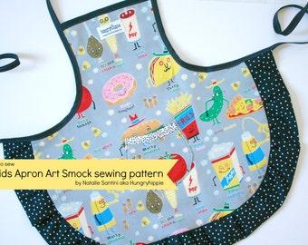 Apron Art Smock PDF pattern download