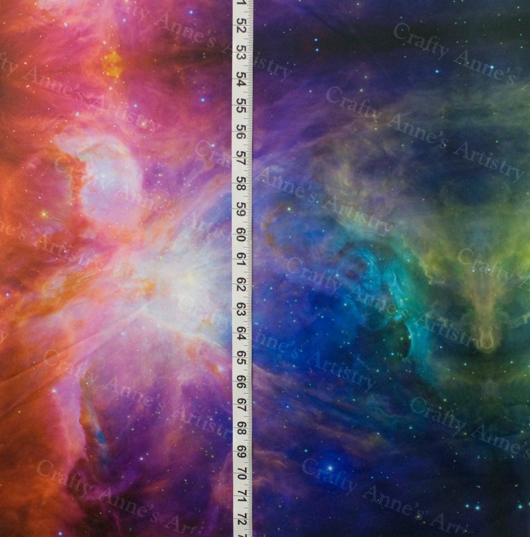 Rainbow galaxy cotton lycra knit fabric 60 wide sold bty for Galaxy fabric canada