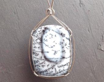Delicate Dendritic Opal Pendant