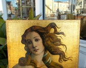 Florentine Made in Italy Gold Beautiful Venus Picture Wall Hanging Botticelli Birth of Venus