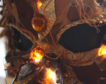 The Jubjub Bird - Light Up Masquerade Mask - Inspired by Jabberwocky - OOAK
