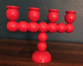 Red Swedish Candle Holder