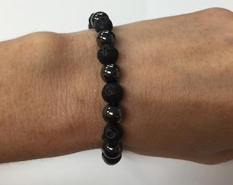 Black and hematite bracelet.