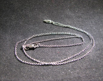 """Hand Oxidized Sterling Silver 1mm Rolo Chain 18"""""""