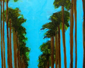 PALM BEACH FLORIDA Trees Abstract  Landscape -   Abstract Giclee print from my original oil painting -  Art