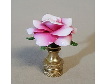 Ombre Rose Lamp Finial..Hand Crafted to Order..Custom Colors