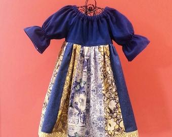 Girls Fall Dress - Girls Dresses - Corduroy Dress -  Peasant Dress - Toddler Dress - Three Quarter Sleeve Dress - Girls - Groovy Gurlz