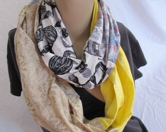 OOAK Hidden Zipper Pocket Cowl/Circle Scarf/Infinity Scarf (5118)