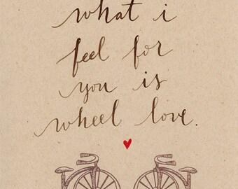 Wheel love bike card