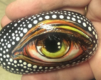 Eyeball rock painting