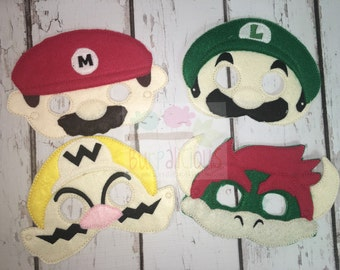 Mario and friends masks