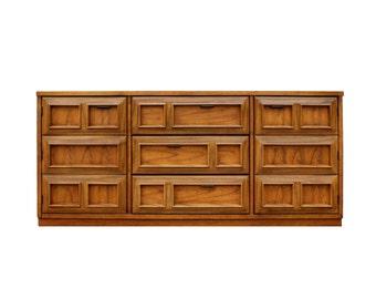 Summer Sale Bassett Mid Century Modern Geometric Credenza Cabinet