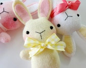 Felt Bunny Softie Sewing Pattern - Tutorial - PDF ePATTERN