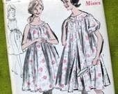 Vintage Pattern 1960s Misses' Peignoir and Nightgown / Advance 2917 / Size 12, 14, 16 / Uncut FF