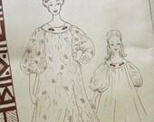 1950s Vintage SEWING PATTERN - Patterns Pacifica 118 - Hawaiian Maxi Dress Cafttan Muu Muu / Size Medium Bust 34-36 UNCUT