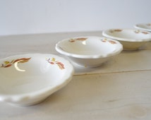 4 vintage Homer Laughlin Best China made in USA dipping bowls
