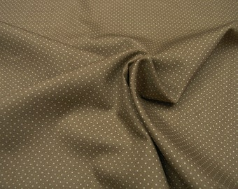 Cotton Fabric • micro dots • nature / coffee • 0.54yd (0.5m) 002476