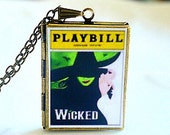 Wicked, Broadway Musical, Elphaba, Idina Menzel, Glinda, Kristin Chenowith, The Wizard Joel Grey, Defying Gravity, Broadway Souvenir
