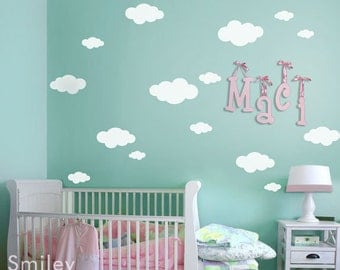 Clouds Wall Decal, Clouds Wall Sticker, Clouds Nursery Decal, Clouds Baby Room Decals, Cloud Wall Sticker, Cloud Wall Sticker Decor