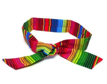 Dog Cooling Bandana for humans and dogs in bright and colorful stripes, cooling collar, cold water collar, cold bandana