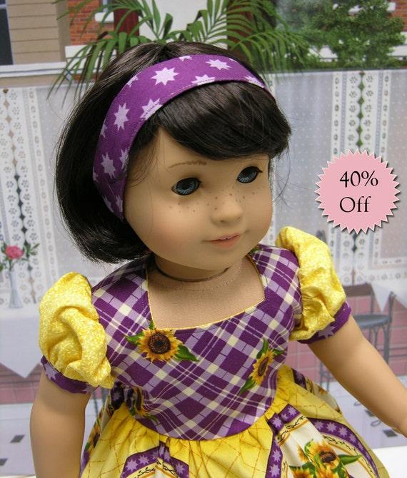 County Fair Dress for American Girl doll -Sunflower Festival  **Sale**
