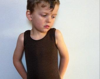 Merino Undershirt - Sizes Baby (6 month to 6T) - Custom ALOUETTE - Fine Wool Tank