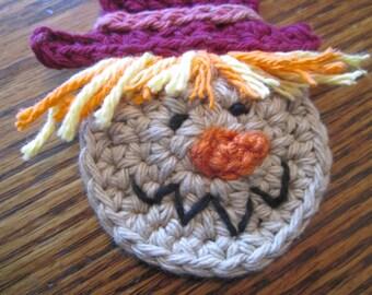 Small Crochet Scarecrow Applique