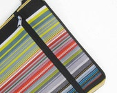 Custom iPad Pro Case, Sleeve, Cover, PADDED with extra zipper pocket, Paul Smith Fabric by Maharam, Stripes