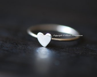 Sterling Silver Heart Ring - Solid 925 - Insurance Included