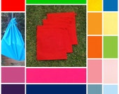 3 medium cotton drawstring bags,  16 colours, early childhood, school