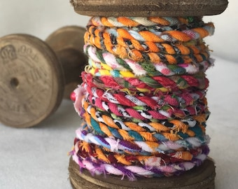 Spool of Handmade Fabric Twine  T403
