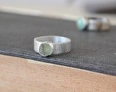 Natural Montana Sapphire Ring Sterling Silver