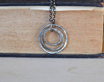 Sterling Circles Necklace