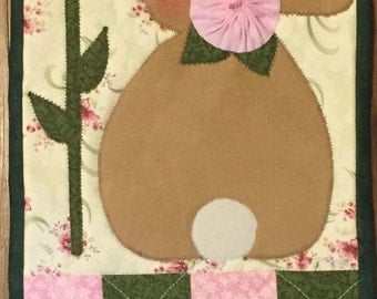 Spring Bunny Welcome Banner