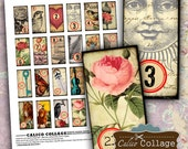 Numbers Digital Collage Sheet 1x2 Domino Images for Pendants, Magnets, Wood Tiles, Jewelry Supply, Craft Paper, Decoupage Paper, Digital Art