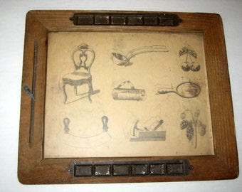 Antique  Children's Tracing Glass or Slate