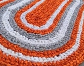 Custom rug for Nina final payment, rag rug, crocheted rug, nursery rug